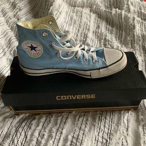 Light Blue Hi-Top Converse